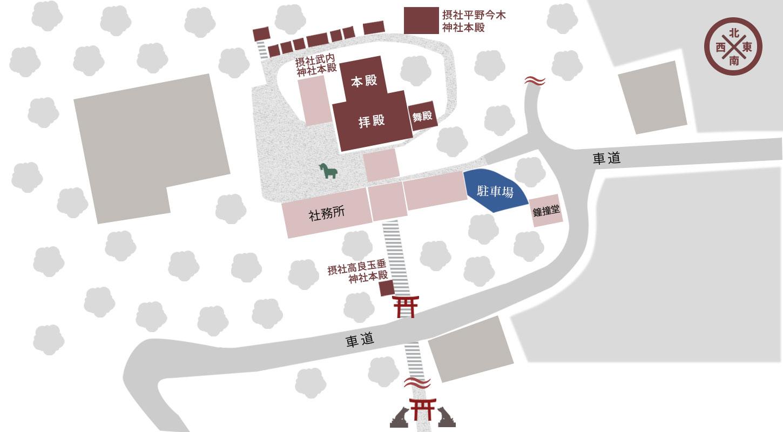 野上八幡宮マップ
